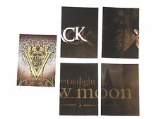 2009 TWILIGHT NEW MOON UPDATE SERIES FOIL PUZZLE INSERT 5 CARD LOT! VO-1 WP-6 T1