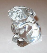 Baccarat Crystal Bunny Rabbit Figurine Glass France
