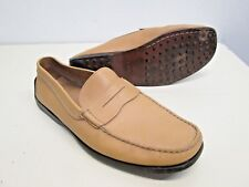 Tod's Driving moccasins penny loafers Leather Italy made sz 8 Gommini peach EUC!