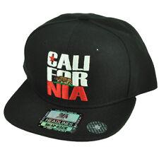 Cali California Republic CALI-FOR-NIA Flat Bill Hat Cap Snapback Youth Kids BLK