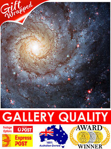 NEW Spiral Galaxy Pisces, NASA Space Poster, Hubble, Giclee Art Print or Canvas