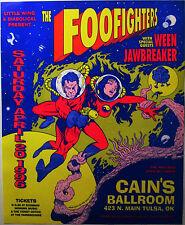 FOO FIGHTERS 1996 Concert Poster - Cain's Ballroom, Tulsa, Oklahoma 20 years old