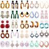 Fashion Women Geometric Pendant Dangle Drop Statement Acrylic Earrings Jewelry