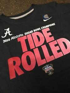 "New Nike Alabama Crimson Tide ""Tide Rolled"" National Champions TShirt Youth Boys"