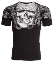 Archaic AFFLICTION Mens T-Shirt PAISLEY Skull Tattoo Biker MMA S-4XL $40 b