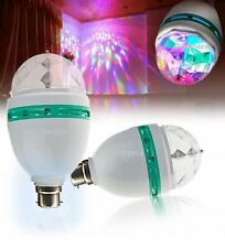 3W E27 Led Full Color RGB Auto Rotating Lamp Crystal Stage DJ Party Light Bulb