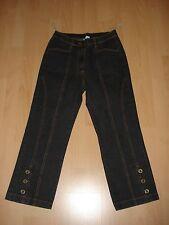 3/4 Jeans, Gr.36,schwarz,Stretch,Knöpfe,Baumwolle/Polyester/Elastan von Klingel