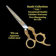 "NEW KASHI PROFESSIONAL 6"" BARBER SHEARS SCISSORS VG-10 JAPANESE COB STEEL  TAL"