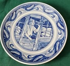 Delft Blue Decorative Plate 5. The Baker Selling his Loaves