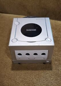 Silver Nintendo Gamecube Console Only For Parts Or Repair