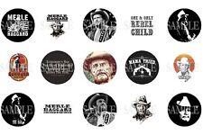 15 Pre-Cut Merle Haggard 1 Inch Bottle Cap Images