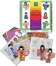 Japanese Origami Paper Folding Kimono Doll Making Kit — Art Set Crafting Nib New