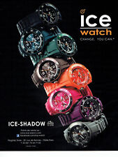 Publicité Advertising 127  2012   les montres Ice Watch   ice shadow
