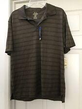 NWT Haggar Mens Polo Golf Shirt Cool 18 Prformnce Medium M Quik Dry UV Prtec $46