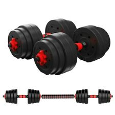 Totall 88LB Weight Dumbbell Set Cap Gym Barbell Plates Body Workout-Adjustable
