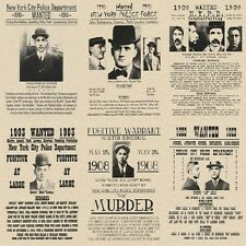 GANGSTER WANTED POSTERS FBI VINTAGE MAFIA ALCATRAZ CRIME PUBLIC POLICE MURDER