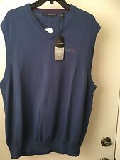 Greg Norman V Neck Sweater Vest SIZE M NWT Surf Blue