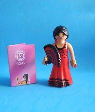 Playmobil Mujer andalusa bailando el Flamenco abanico woman dancing red dress