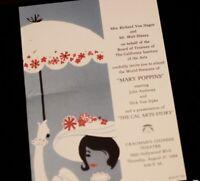 Mary Poppins Invitation Grauman's Chinese Theater Premiere 1964 2003 Walt Disney