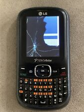 """New listing Lg Saber Un200 Black Silver U.S. Cellular Cell Phone Cracked Screen """"As Is"""" Blm"""