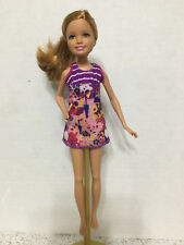 Barbie Sister Stacie Strawberry Blonde Hair Camping Dressed Purple Doll