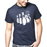 Pinguin Penguin Shit Bowling Kegeln Sprüche Geschenk Lustig Spaß Comedy T-Shirt