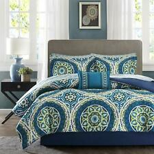 Madison Park Essentials Serenity Twin Size Bed Comforter Set Bed in A Bag - Blue