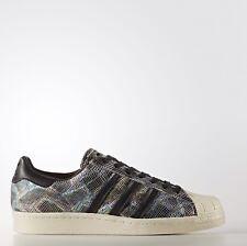 7fb8dce58a1 Adidas Originals Superstar 80s 80 s Black White Metallic Snakeskin BZ0142  Sz 9.5