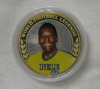 Russia 10 rubles Pele. Brazil. Legend of world football