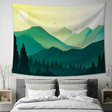 Wall Hanging Tapestry Abstract Mountain Nature Forest Home Bedroom Wall Decor