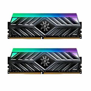 XPG SPECTRIX D41 RGB Desktop Memory: 16GB (2x8GB) DDR4 3200MHz CL16 Tungsten