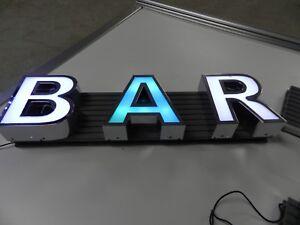 BAR Schild 3D LED Buchstaben 60 cm Leuchtkasten Leuchtbuchstabe Leuchtreklame