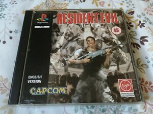 🎮 RESIDENT EVIL - BLACK LABEL - SONY PLAYSTATION PSONE PS1 GAME VGC 🎮