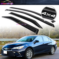Fit for 15-17 Toyota Camry Window Visor Wind Guard Side Deflector w/ 4x4