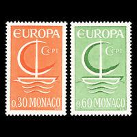 Monaco 1966 - EUROPA Stamps - Sc 616/7 MNH