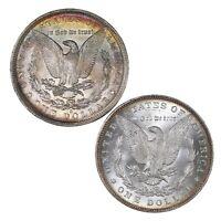 Raw 2 Pack Morgan $1 1883-O 1887 Morgan $1 Uncertified US Silver Dollar Coin Lot