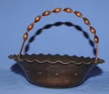 Vintage hand made copper basket