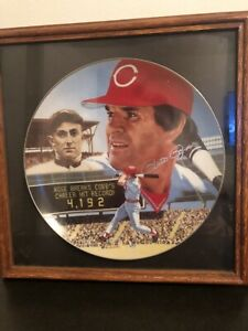 "1985 Gartlan Pete Rose 10 1/4 "" Platinum Edition Plate #255 The Best Of Baseball"