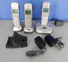 PANASONIC CORDLESS PHONES AND BASE, FOR PARTS OR REPAIR MODEL # KX-TG4023N