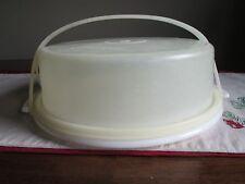 "Tupperware Vintage  9"" PIE Taker w/ Carolier  Handle WHITE 719 720 721"