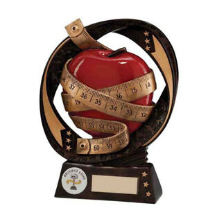 Typhoon SLIMMING Weight Loss Trophy Award - FREE Engraving 2 Sizes RF16078