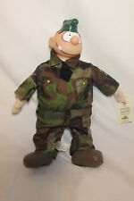 Beetle Bailey Sarge Doll Plush By Toy Factory 2004 with Tag 15''