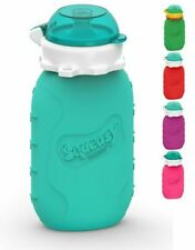 Squeasy Snacker (Aqua) 160Ml Silicone Gourde Rã©Utilisable Pour Compotes Et P