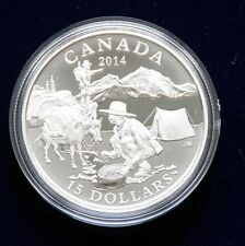 "CANADA 15 Dollar 2014 ""Tradition of hunting"" Silber polierte Platte"