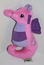 "The Petting Zoo SEAHORSE 9"" Pink Purple Glitter Sparkle Plush Stuffed Soft Toy"