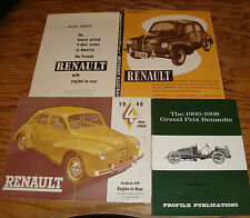Original 1906 - 1949 Renault Sales Brochure Photo Ad Lot of 10 49