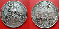 Mainz 1894 Shooting Medal Silver City View Hunter Germany German State
