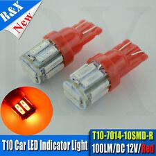 10X Red LED T10 Number Plate Bulbs - Holden Commodore VN VP VR VS VT VX VY VZ VE