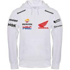 Sweat-Shirt Honda Hrc Blanc Noir T-Shirt Polo T-Shirt Col-écharpe