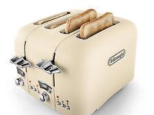 DeLonghi CT04.BG 1800 Watts Argento Flora 4-Slice Toaster-Beige
